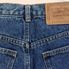 Vintage CALVIN KLEIN Jean Skirt American Classic Denim 80s Straight Fit LIKE NEW