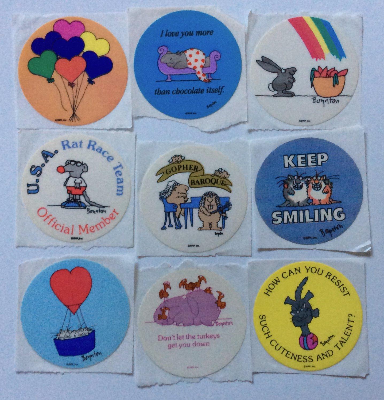 Vintage Stickers Sandra Boynton Stickers 80s Rat Race Chocolate Etc