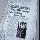Book LYNDON JOHNSONS DUAL WAR: VIETNAM AND THE PRESS by Kathleen J. Turner 1985 Trade Paperback