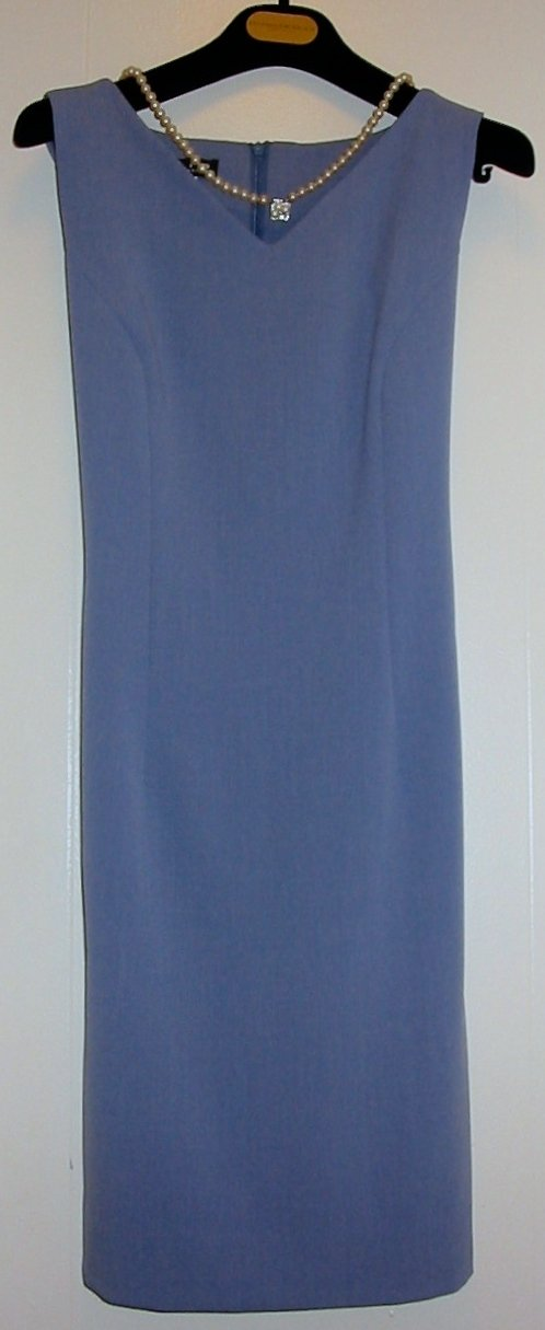Trio Sheath Dress in Periwinkle Vintage 90s Timeless Style