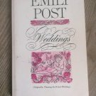 VINTAGE Emily Post Weddings 1963 Paperback Wedding Etiquette Book