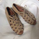 BEAUTIFEEL Gladiator Wedge Comfort Sandal Walking Shoe Lace Up New Condition