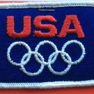 Vintage USA Olympics Patch Simple New Condition on Card
