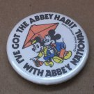 Vintage Disney Button Pin Pinback Badge Disney Europe 1980s Abbey National Ad Mickey Mouse Minnie