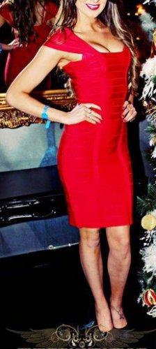 Cloverl Madison Capsleeve Bandage Dress--Free global shipping