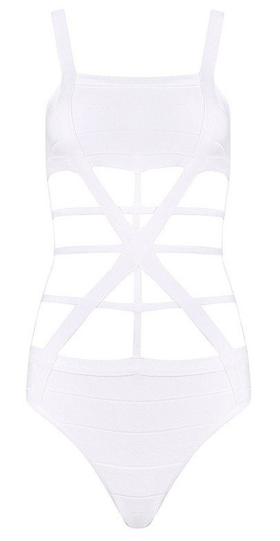 Cloverl Shirley white Bandage Swimwear  Free Global Shipping