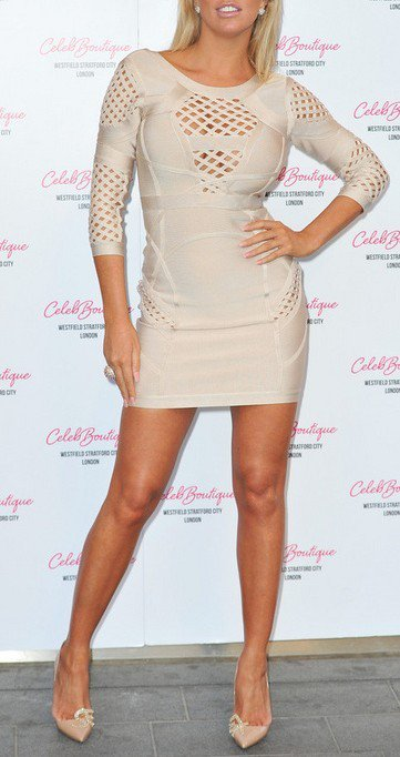 Cloverl Selena Nude Mid Sleeve Bandage Dress Free Global Shipping