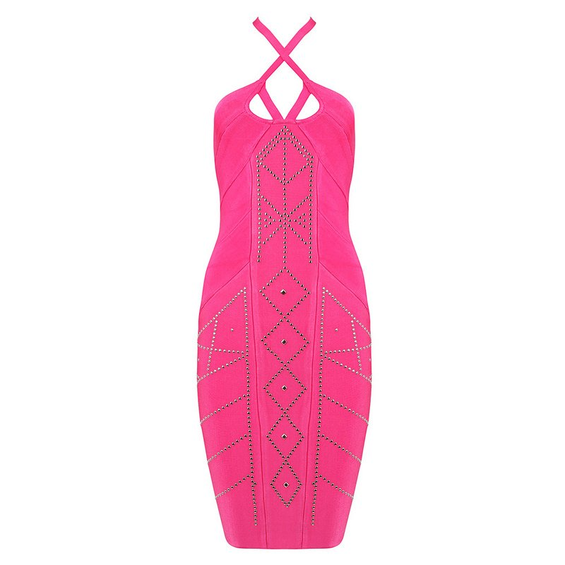 Cloverl Mariana Strappy Bandage Dress Two colors Free Global Shipping