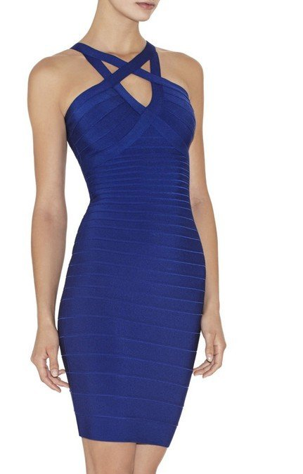 Cloverl Rory Strappy Bandage Dress Free Global Shipping