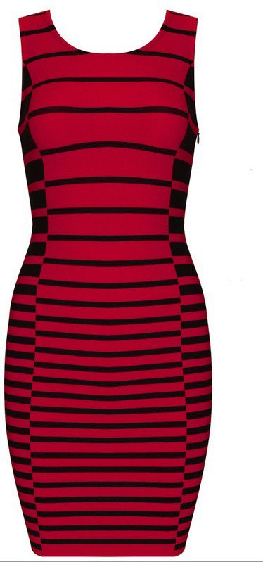 Cloverl Eleanor Stripy Bandage Dress   Free Global Shipping