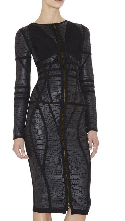 Cloverl Elle Long Sleeve Bandage Dress Free Global Shipping