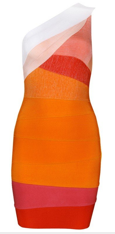 CloverlJuliet one shoulder Bandage Dress   Free Global Shipping