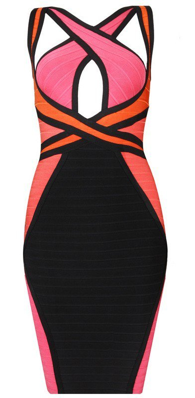 Cloverl Maria Strap Bandage Dress in the style of Maria Fowl