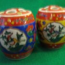 Vintage Chinese Ceramic Spice Jars with Lids