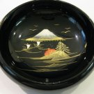 Japanese Black Lacquer Candy Dish of Mt. Fuji