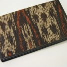 Indonesian Natural Fiber Ikat Fabric Travel Document Wallet