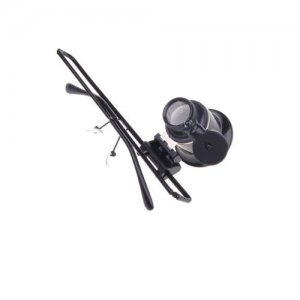 Monocle Magnifier Eyewear Style Single 20X Magnifier with LED Light