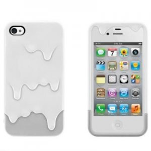 IPHONE 4S/4 melt ice cream Case Cover Skin phone protective cover gray