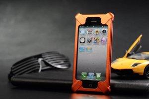 Transformers Aluminum Metal Frame Bumper Case cover for iPhone 5 5TH 5G Orange