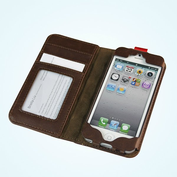 Old Book Case For Iphone : Antique leather book case cover for iphone protector