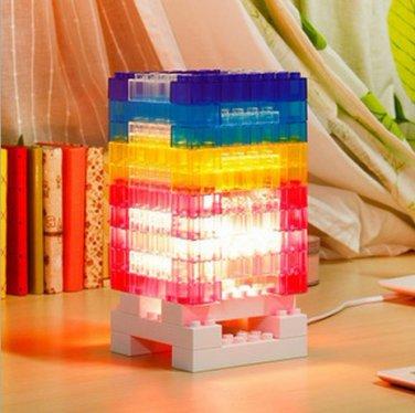 Creativity Rebuilt 25W Power DIY mood Brick light Tower Bulb Brightness Adjustable