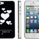 Protector Heart Shape Pattern Protective Case with Flashing Lights for iPhone 5