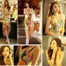 Women Multi Color Floral Irregular Beach Boho Bohemia Maxi Sundress Long Sun Dress