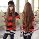 Women Ladies Long Curly Wavy Hair Full Wigs Wig Brown Cosplay Party