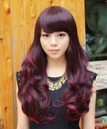 Sexy Fashion Lady Full wigs Long Curly Wavy Wig Cosplay Hair Party Wigs