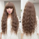 Trendy Fashion Women Lady Long Curly Wavy Hair Full Wigs Cosplay Party Light Brown