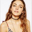 Vintage Stretch Tattoo Choker Necklace Retro Gothic Punk Elastic 80s 90s Chain