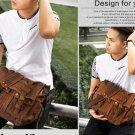 Men Vintage Canvas Leather Satchel School Military Retro Shoulder Bag Messenger Bag