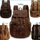 Retro Vintage Travel Canvas Backpack Sport Rucksack Satchel School Hiking Camping Bag