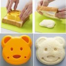 lovely Teddy Bear Shape Bread Cake Sandwich Plastic Mold DIY Cutter Craft