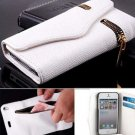Foldable zipper PU Leather Wallet Flip Case Cover Card Holder For iPhone 5 5s