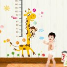 Giraffe MonkeyVinyl Wall Decal Stickers Kids Measure Height