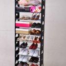 50 Pair Standing 10 Tie Shoe Tower Organizer Space Saving Shoe Rack