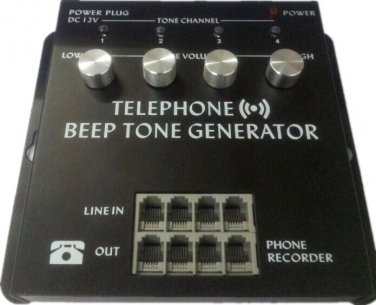 4 Channel Port Telephone Record Beep Tone Generator with power supply