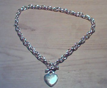 Puff Heart Toggle Necklace