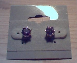 Silver Amethyst Solitaires
