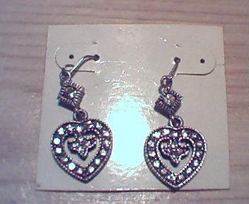 CZ Heart Shaped Earrings