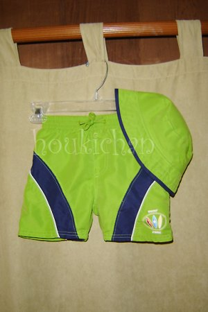 EUC First Impressions Boardshorts & Hat Set