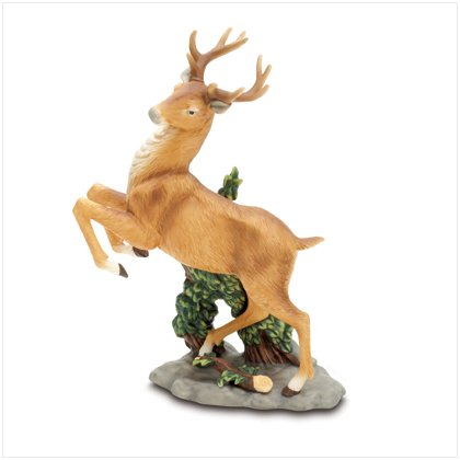 PORCELAIN BUCK FIGURINE