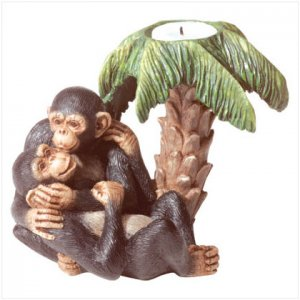 ALAB MONKEY LOVERS CANDLE-HOLDER