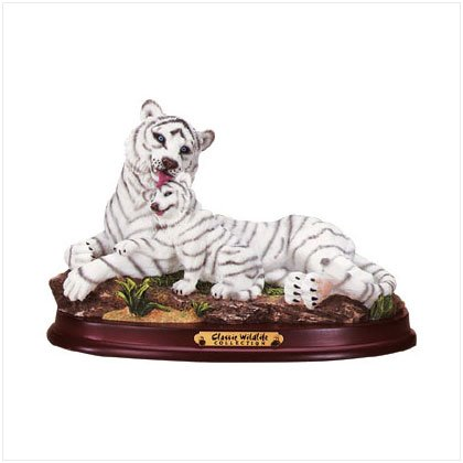 Alab White Tiger/Cub Wood Base