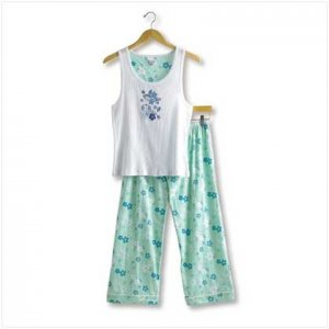 HAWAIIAN PRINT TANK PJ SET-SM