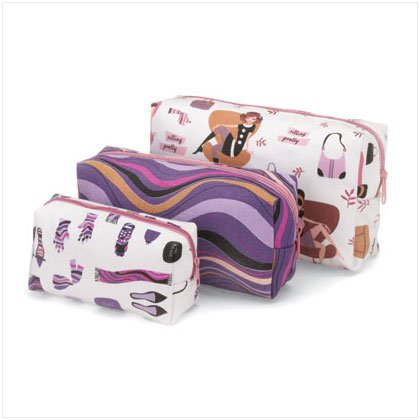3 PC COSMETIC BAG SET