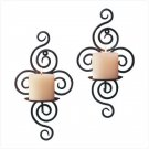 WROUGHT IRON SWIRL WALL HOLDERS