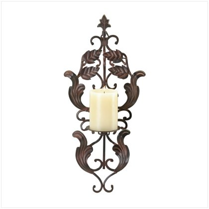 WROUGHT IRON WALL CANDLEHOLDER