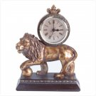 ALAB LION CLOCK ANTQ. FINISH